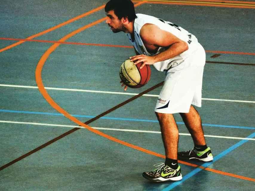 Iván durante un partido.