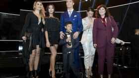 Cristiano Ronaldo con parte de su familia y Georgina Rodríguez.
