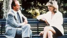 Selina Scott durante la grabación del documental con el rey Juan Carlos en 1992