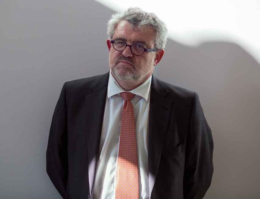 Miguel Falomir en el Casón del Buen Retiro, donde despachará como director del Prado.