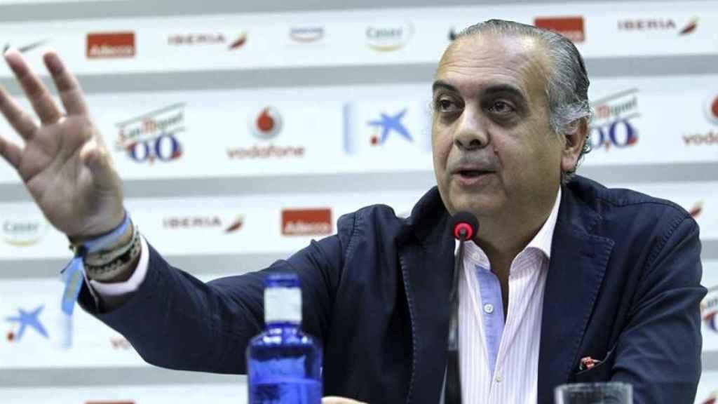 José Luis Sáez en una rueda de prensa.