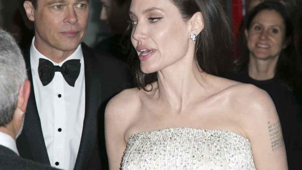 Angelina Jolie y Brad Pitt cuando eran matrimonio.