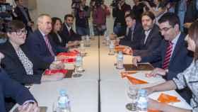 Tovar (PSOE) y Sánchez (Cs), en un reunión el pasado 8 de marzo.