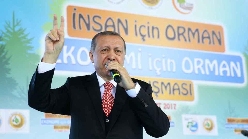 Erdogan en un acto de campaña esta semana.