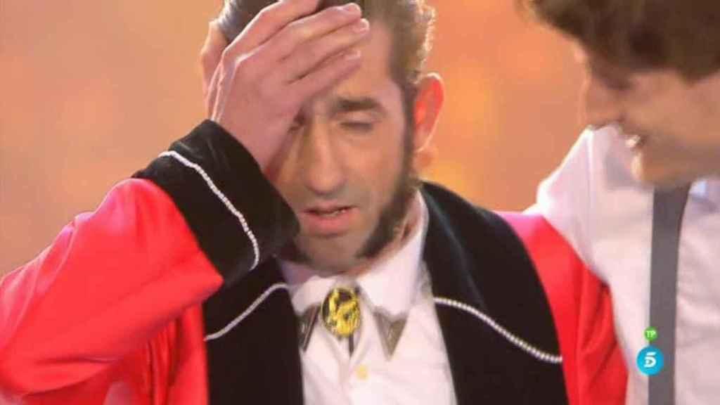 Antonio 'El Tekila' momentos después de enterarse de su victoria en el concurso.