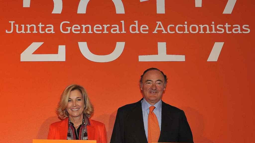 María Dolores Dancausa y Pedro Guerrero, consejera delegada y presidente de Bankinter