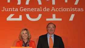 María Dolores Dancausa y Pedro Guerrero, consejera delegada y presidente de Bankinter.
