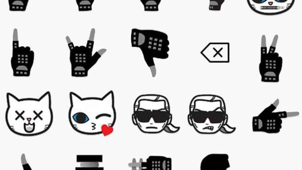 Algunos de los emoticonos de la colección EmotiKarl. | Foto: Google Play.