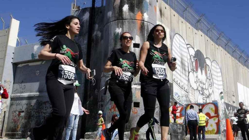 Unas corredoras en una edición pasada del maratón de Belén.