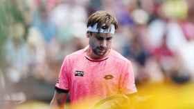Ferrer, durante un partido en el pasado Abierto de Australia.
