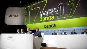José Ignacio Goirigolzarri preside la junta de accionistas de Bankia.