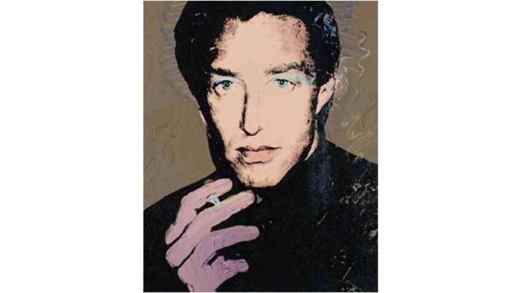 Retrato de Halston pintado por Andy Warhol