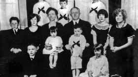 El matrimonio Gilbreth con 11 de sus 12 hijos, en la década de 1920.