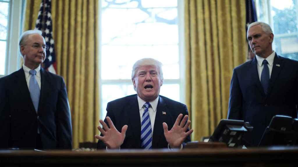 Imagen de archivo de Donald Trump en el Despacho Oval.