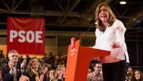 Susana Díaz durante el acto de presentación de su candidatura.