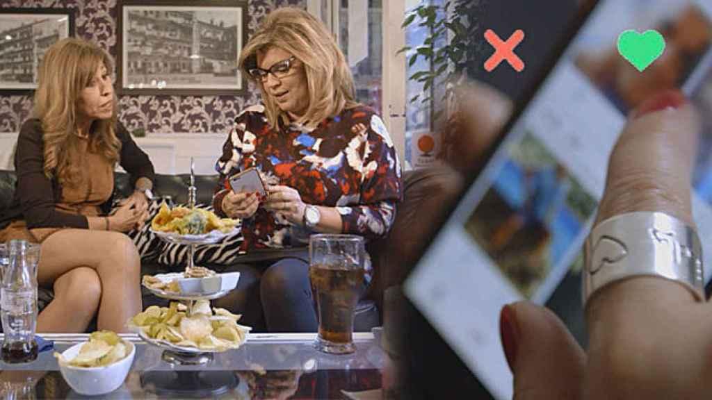Terelu usa Tinder para ligar bajo el pseudónimo de Lourdes