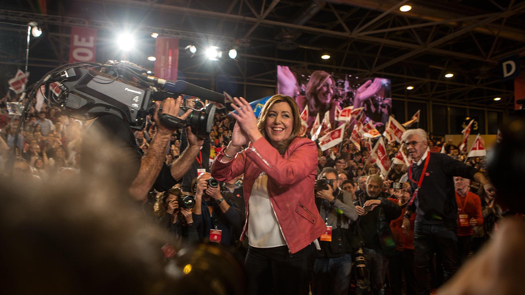 Susana Díaz presenta su candidatura en las primarias del PSOE