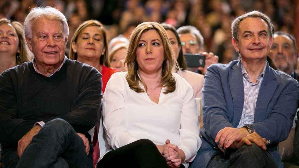 González y Zapatero arroparon a Díaz en su presentación como candidata.