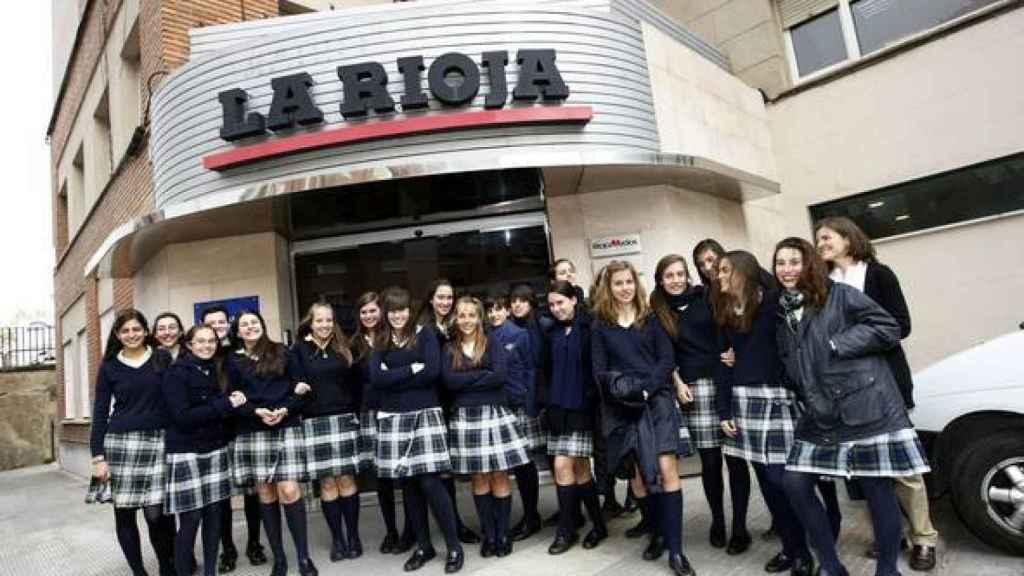 Alumnas del colegio de Logroño.