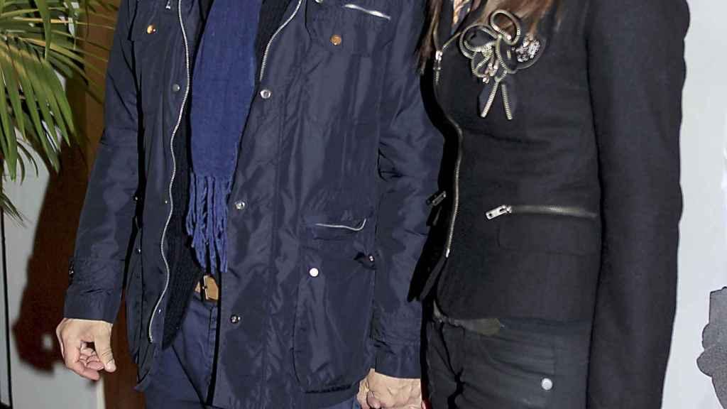 El actor con Irene  Merritxell.