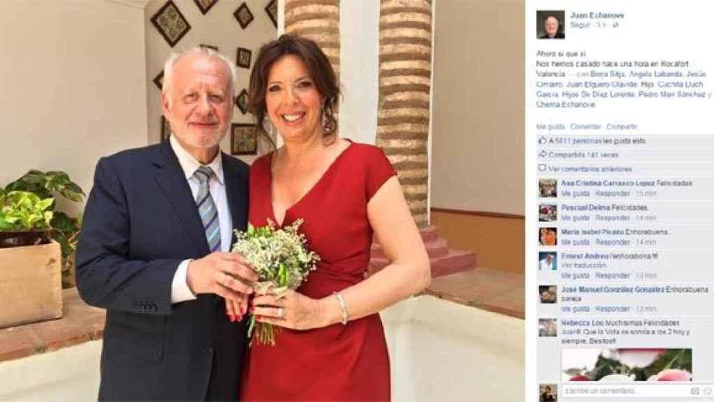 Juan Echanove con su mujer Cuchita Lluch.