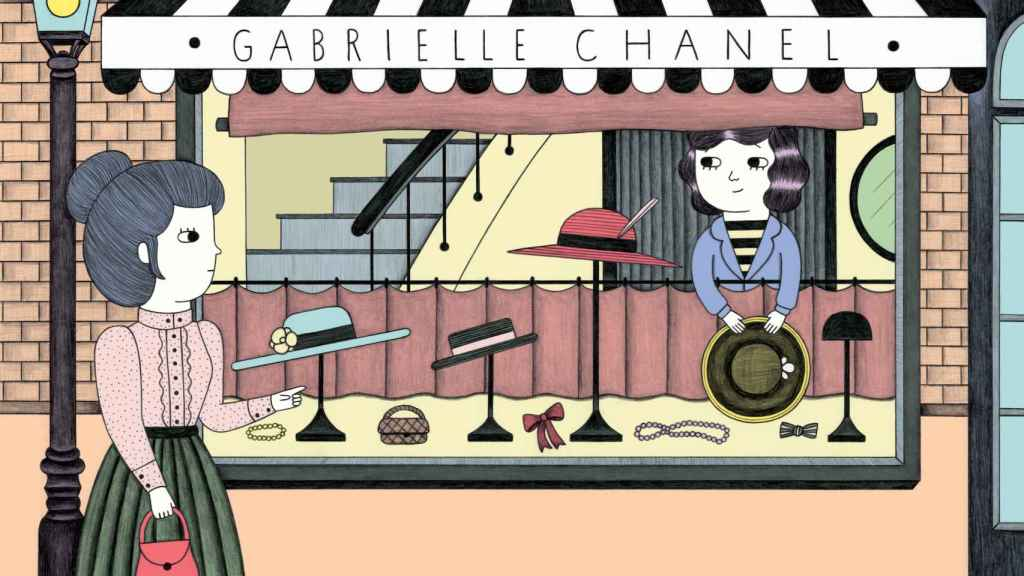 Ilustración de Ana Albero para Pequeña&GRANDE Coco Chanel de Isabel Sánchez Vegara. (Editorial ALBA)