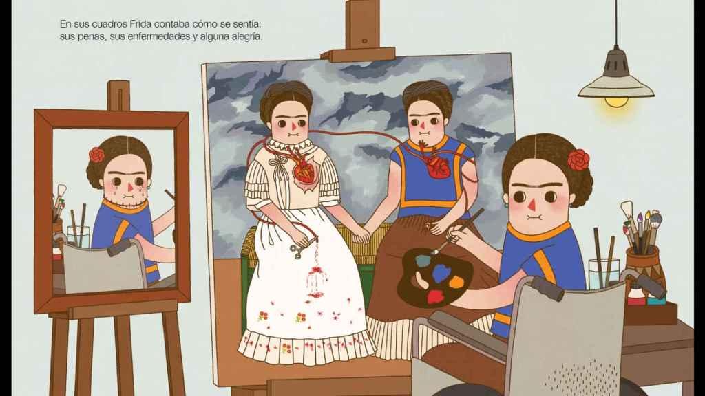 Ilustración de Gee Gan Eng para Pequeña&GRANDE Frida Kahlo de Isabel Sánchez Vegara (Editorial ALBA).