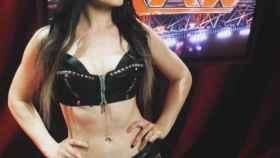 Saraya-Jade, antes de un combate de Wrestling.