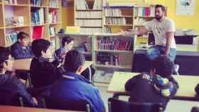 Valtonyc durante una de las clases