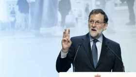 El presidente del Gobierno, Mariano Rajoy, en el Palau de Congresos de Cataluña.