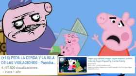 Una de las parodias adultas de Peppa Pig, y uno de los vídeos destinados a niños.