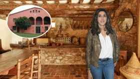 Fotomontaje de Paz Padilla en su casa rural.