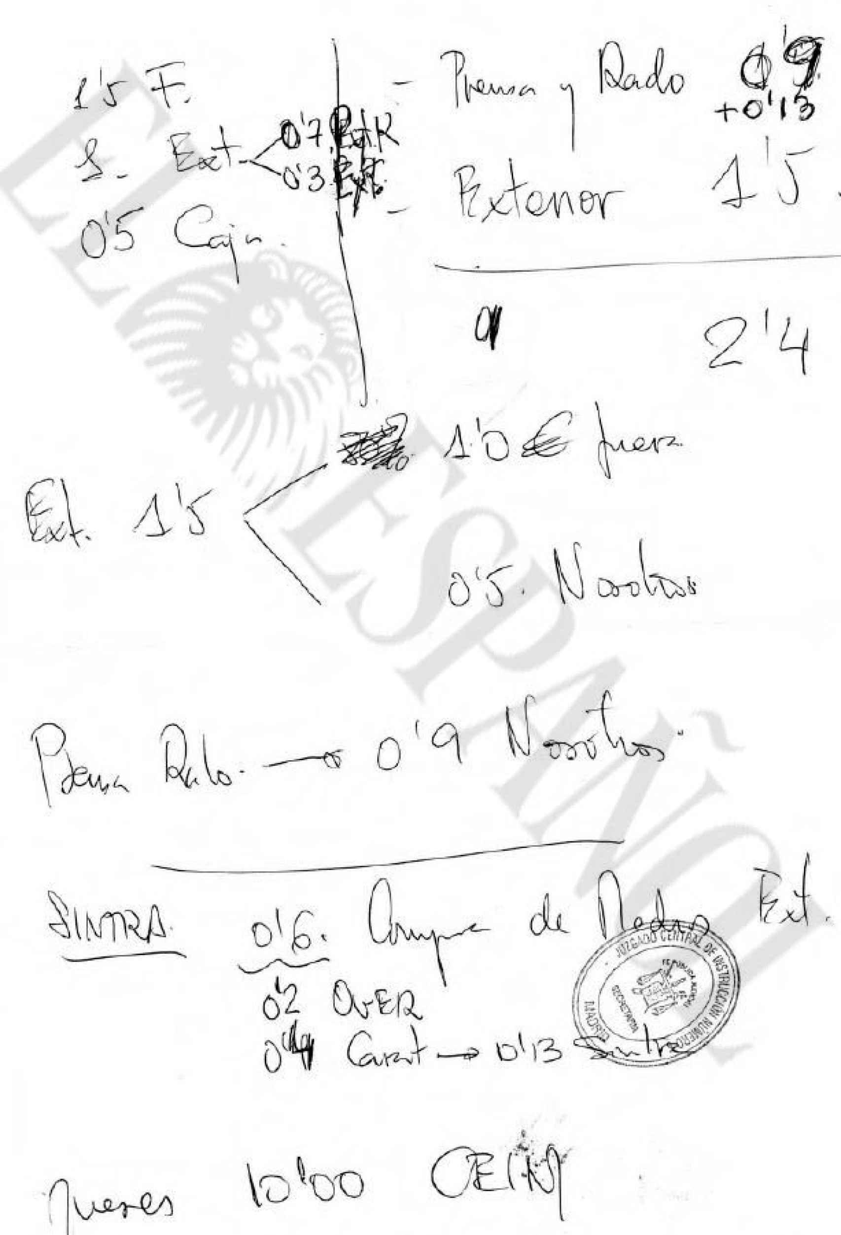 Documentación incautada en el domicilio de Beltrán Gutiérrez.