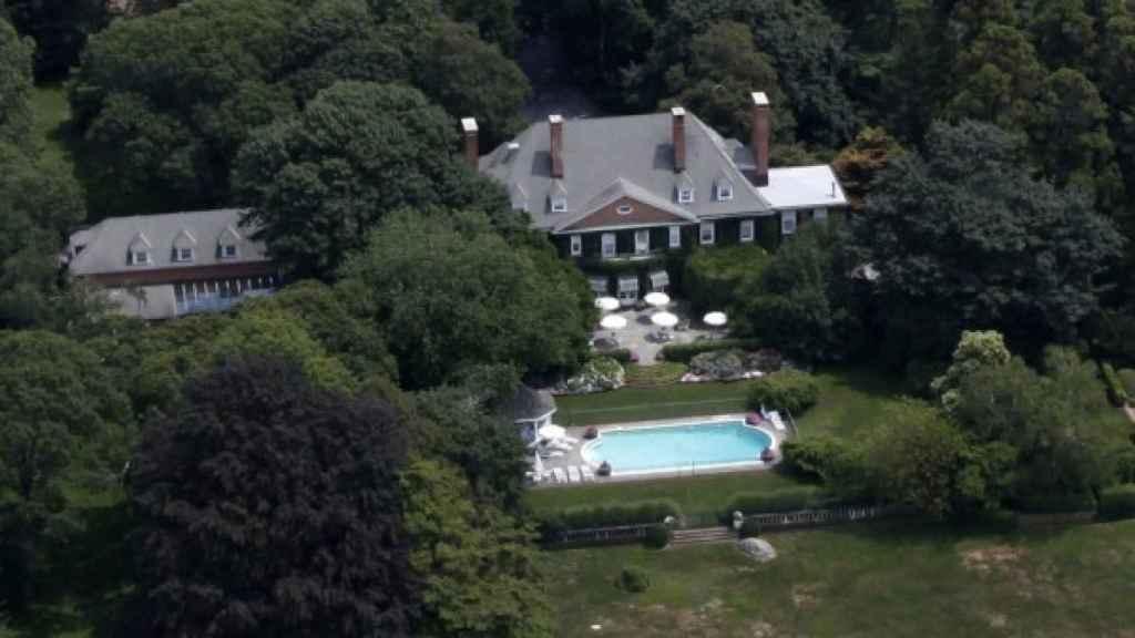 Imagen aérea de la mansión de Michael Bloomberg en los Hamptons.