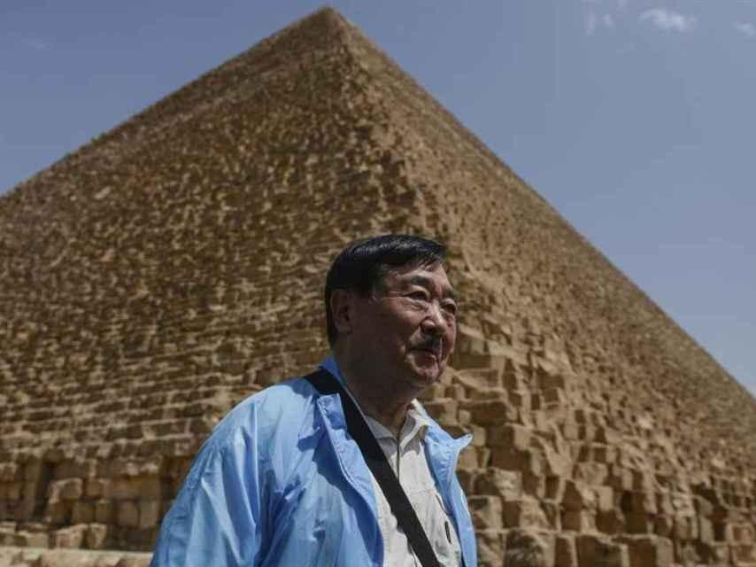 Vista de una de las pirámides de Guiza.