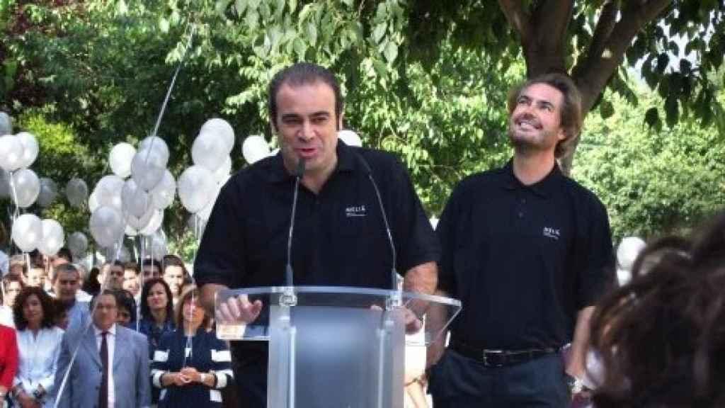 Gabriel y Sebastián Escarrer en la celebración del 55 aniversario de Meliá.
