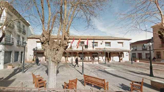 Centro de la localidad de Villafranca de los Caballeros.