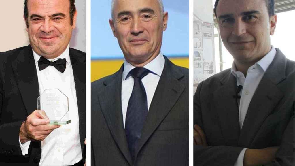 Gabriel Escarrer, Rafael del Pino y Abel Matutes Jr.