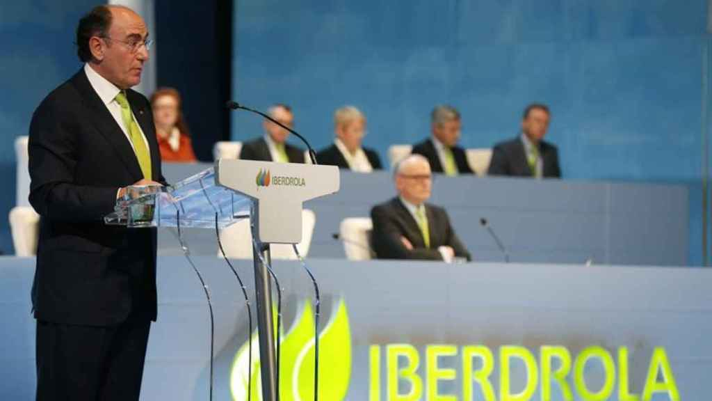Ignacio Galán, presidente de Iberdrola, durante la junta de accionistas.