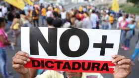 Imagen de la protesta de ayer contra la decisión del Supremo.