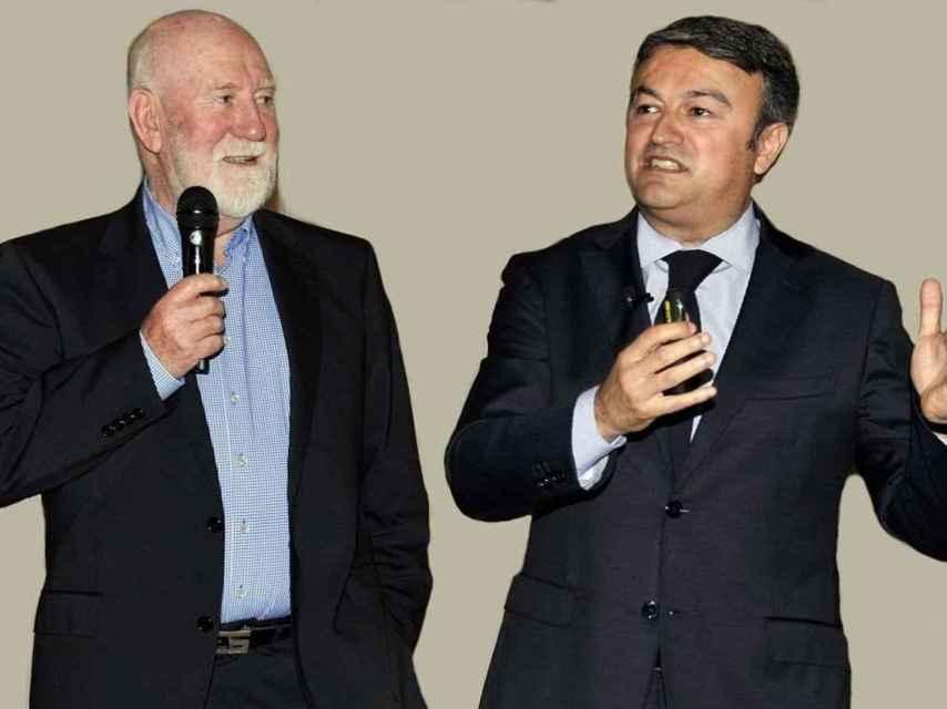 George Thomas (i) y José Chulvi (d).