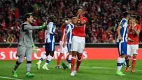Casillas en el partido Benfica - Oporto.