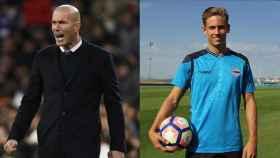 Zidane y Marcos Llorente
