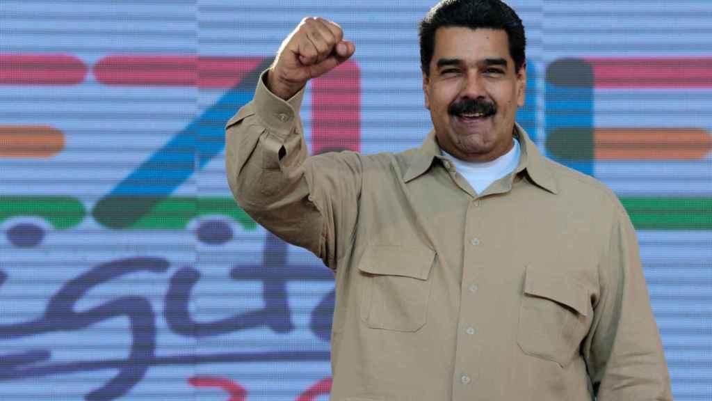Maduro, durante un acto público este viernes en Caracas.