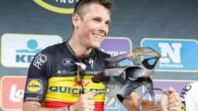 Gilbert celebra su victoria en Flandes.