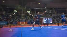 Sanyo Gutiérrez y Paquito Navarro durante la final masculina del Santander Open de pádel.