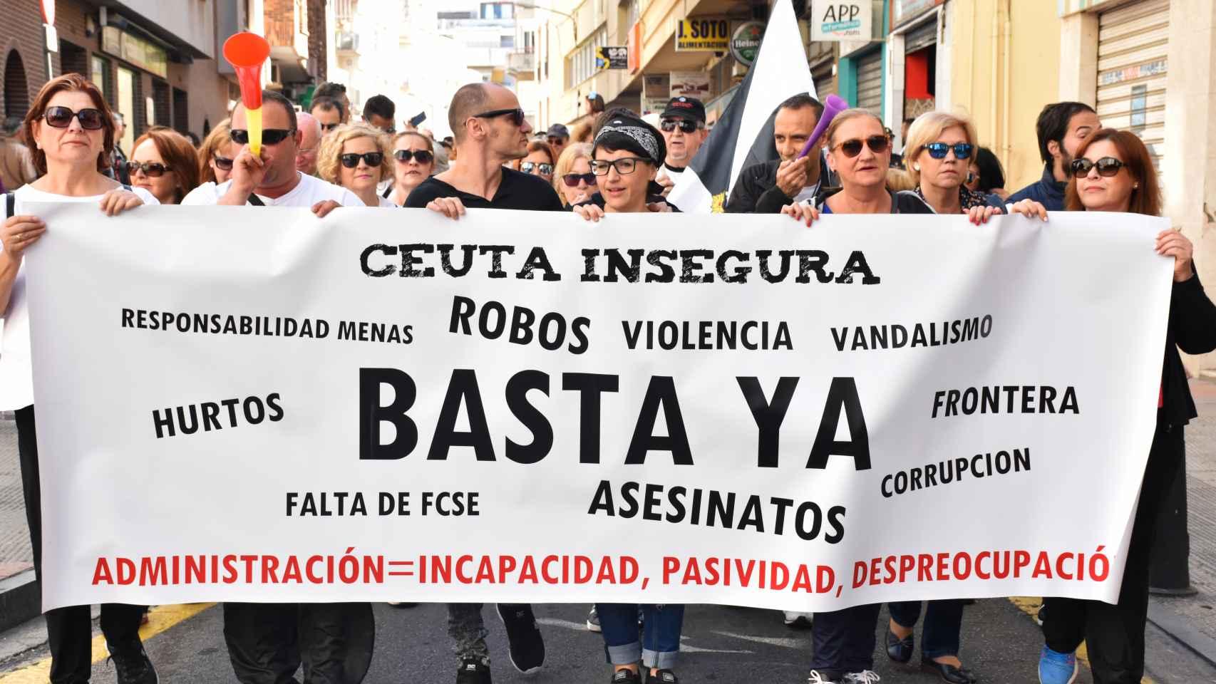 Cacerolada en Ceuta
