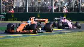 Alonso, durante el GP de Australia.