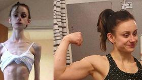 El montaje del antes y después que Fiona Chrystall compartió en sus redes sociales