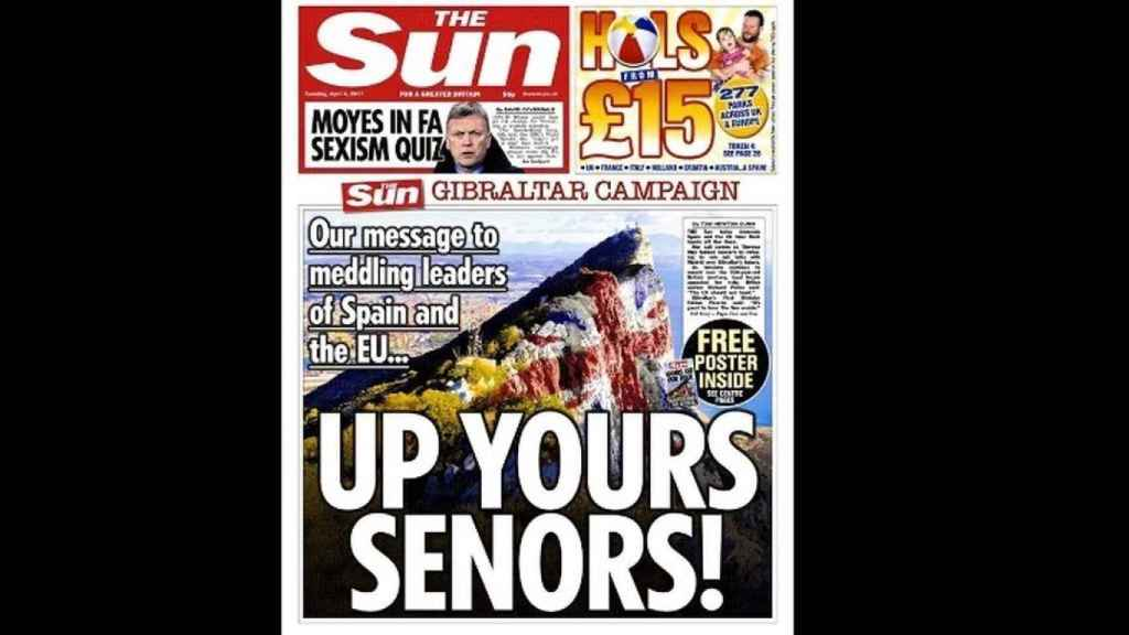 La portada de 'The Sun' de este martes.